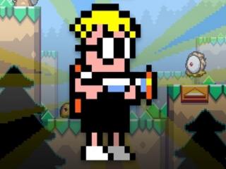 Deze pixelheld, genaamd Max, heeft de hoofdrol voor elkaar gekregen in Mutant Mudds.