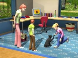 Volgens mij hoort een kat geen pootjes te geven... Deze is nog ziek, geef maar weer terug.