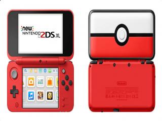 Een speciale Pokéball-uitvoering van de <a href = https://www.mario3ds.nl/Nintendo-3DS-spel.php?t=New_Nintendo_2DS_XL target = _blank>New Nintendo 2DS XL</a>.