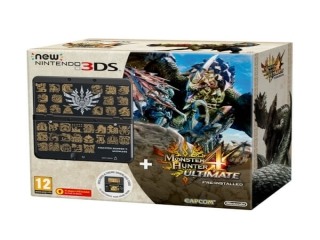 New Nintendo 3DS Monster Hunter 4 Ultimate Limited Edition: Afbeelding met speelbare characters