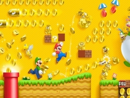 Spring door een gouden ring en alle vijandjes worden goud kleurig en laten veel muntjes achter!