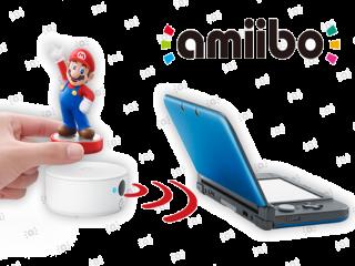 Dankzij de kleine NFC Reader/Writer kun je amiibo-figuurtjes op je 3DS (XL)!