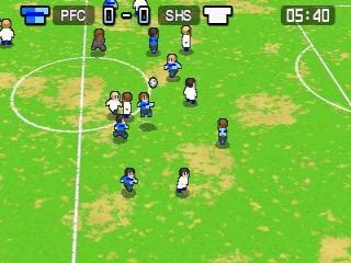Realistische graphics zijn niet van de orde in Nintendo Pocket Football Club.