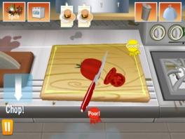 Koken op de 3DS is een stuk veiliger dan in een echte keuken, Je snijdt niet in je eigen vingers!