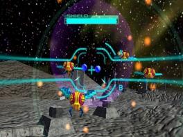 Schiet vanuit je cockpit hordes vijanden aan flarden in Galaga 3D Impact.
