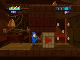 Gebruik de gestoorde uitvindingen van Phineas en Ferb om door de levels heen te komen.