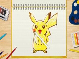 Teken de schattige Pikachu!