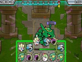 Neem het op tegen allerlei pokemon, zelfs legendarische zoals Rayquaza hier.