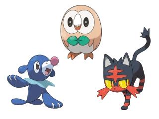 De drie starter-Pokémon in deze generatie.