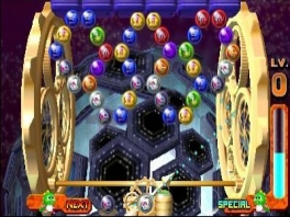 In sommige levels bewegen de gekleurde bolletjes ook.