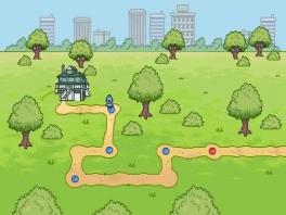 Zo navigeer je van level naar level.