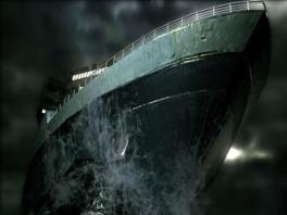 Het verlaten cruiseschip the Queen Zenobia zorgt voor een angstaanjagend decor.