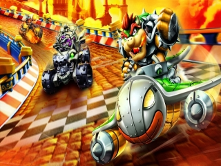 Race met Bowser (exclusief voor de 3DS en Wii U) en allemaal andere Skylanders richting de 1e plek!