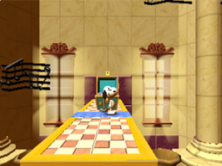 Snoopy's grote avontuur is volledig in een 2D-platform wereld.