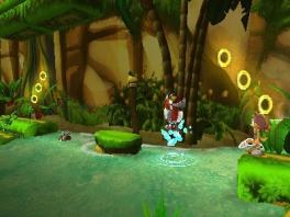 Baan je met Sonic, Knuckles, Tails en Sticks een weg door vele 2D-levels om Amy te redden!