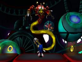 De grote vijand in de game is niet Eggman, maar dit engige reptiel genaamd Lyric.