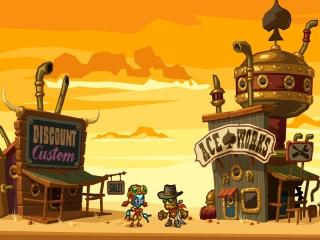 SteamWorld Dig speelt zich af in het verlaten western stadje Tumbleton.