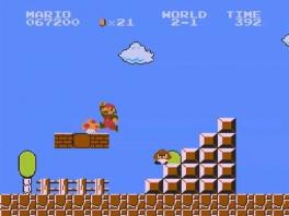 In die goede oude tijd hadden we al Goomba's en mushrooms. Alleen zagen ze er wat pixeliger uit.
