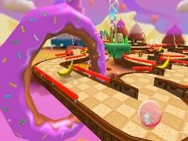 Er zijn veel leuke parkoersen om op te spelen, zoals deze, waar donuts centraal staan.