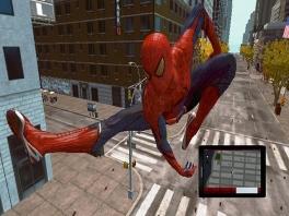 Speel als de flexibele Spiderman en waan je een weg door de stad aan je web.