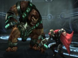Als god van de donder is het één van je belangrijkste taken om... gigantische apen te verslaan?