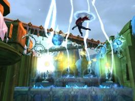 Thor: God of Thunder is niet alleen een vechtspel, ook platforming speelt een rol.
