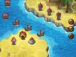 Verdedig je haven met verschillende soorten torens en vernietig die Vikingen!