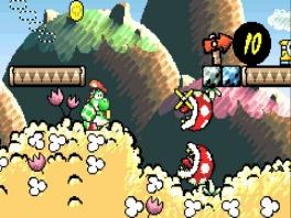 Maak gebruik van Yoshi's vaardigheid om eieren te gooien om vijanden te verslaan.