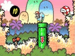 Breng Baby Mario veilig op je rug naar het einde van het level.