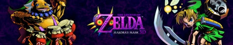 Banner The Legend of Zelda Majoras Mask 3D