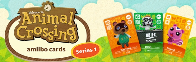 Banner Animal Crossing amiibo cards Serie 1