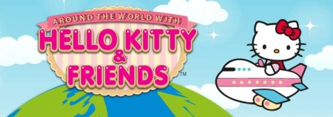 Banner Around the World with Hello Kitty and Friends