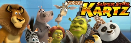 Banner DreamWorks Super Star Kartz