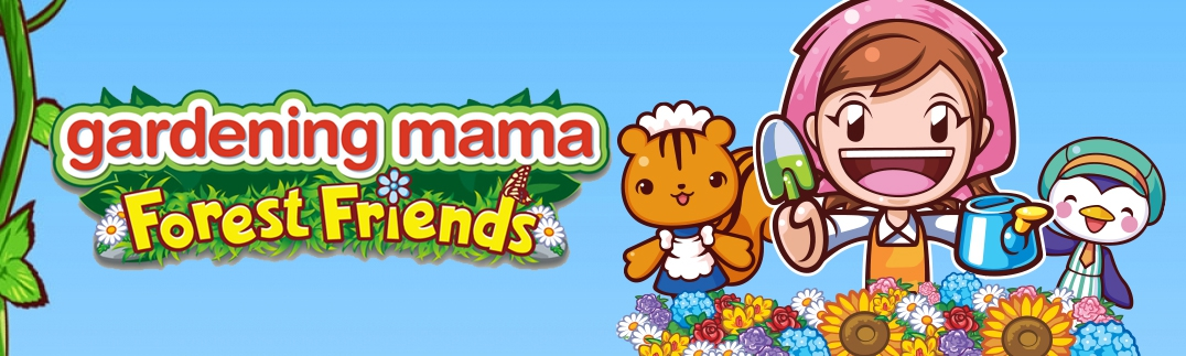 Banner Gardening Mama Forest Friends