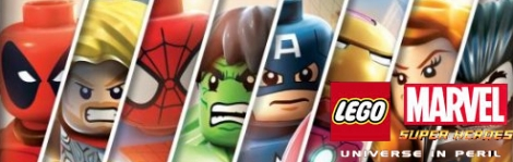 Banner LEGO Marvel Super Heroes Universe in Peril