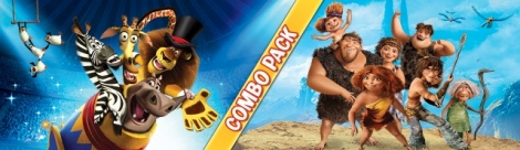 Banner Madagascar 3 and The Croods Combo Pack