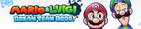 Banner Mario and Luigi Dream Team Bros