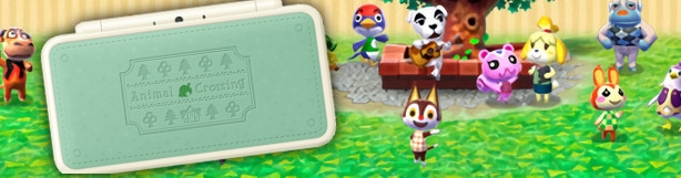 Banner New Nintendo 2DS XL Animal Crossing Edition