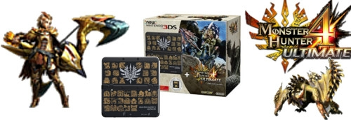 Banner New Nintendo 3DS Monster Hunter 4 Ultimate Limited Edition