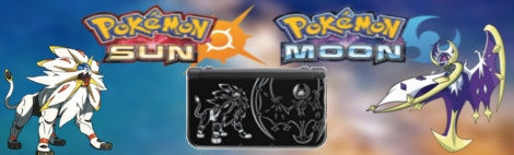 Banner New Nintendo 3DS XL Pokemon Sun and Moon Limited Edition