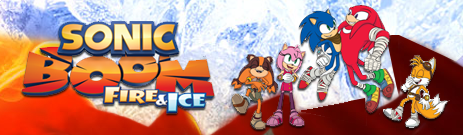 Banner Sonic Boom Fire and Ice