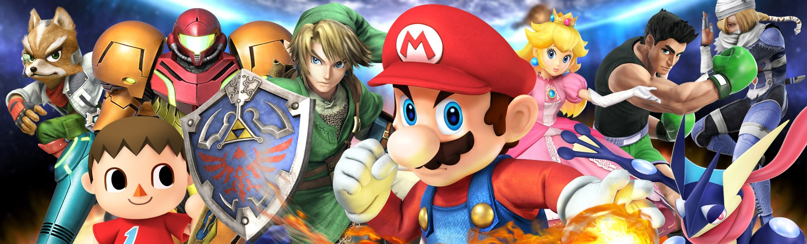 Banner Super Smash Bros for Nintendo 3DS