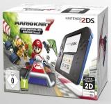 Nintendo 2DS Blauw & Zwart Met Mario Kart 7 Voorgeïnstalleerd - Als Nieuw & in Doos voor Nintendo 3DS