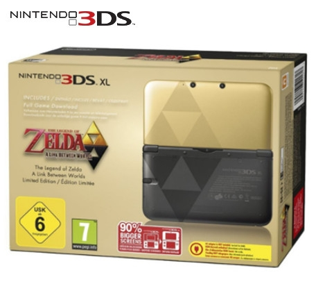 Boxshot Nintendo 3DS XL The Legend of Zelda: A Link Between Worlds Limited Edition