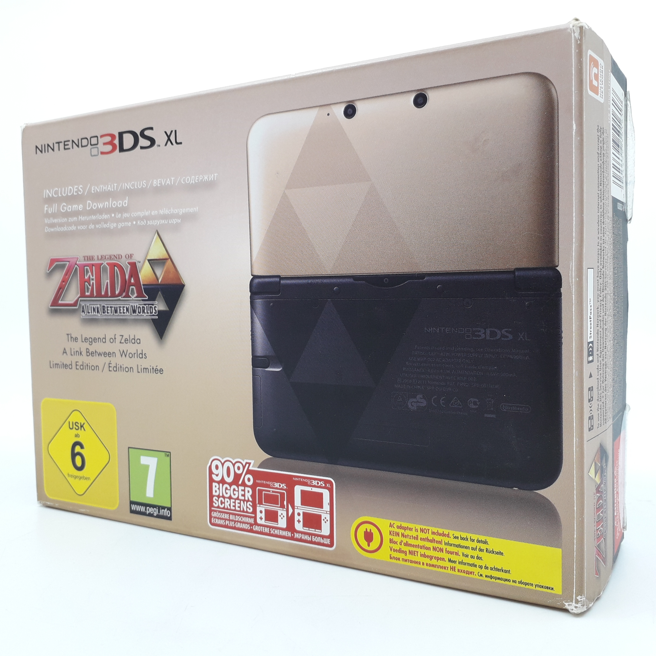 Foto van Nintendo 3DS XL The Legend of Zelda: Link Between Worlds Limited Edition - Mooi & in Doos