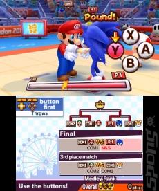 Review Mario en Sonic op de Olympische Spelen: Londen 2012: De mascottes vechten erop los.