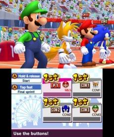 Review Mario en Sonic op de Olympische Spelen: Londen 2012: Een potje hardlopen tegen Sonic? Veel succes!