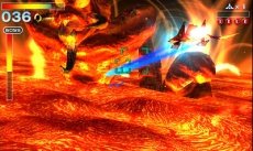 Review Star Fox 64 3D: Verken gevarieerde planeten, zoals deze vol lava!