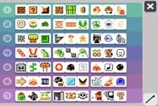Review Super Mario Maker for Nintendo 3DS: Een gedeelte van de voorwerpen die je tot je beschikking hebt tijdens het maken van de levels.