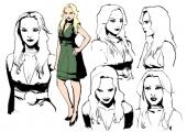 Megan Mooney: een prostituee die de vriendin van Tanner wordt.